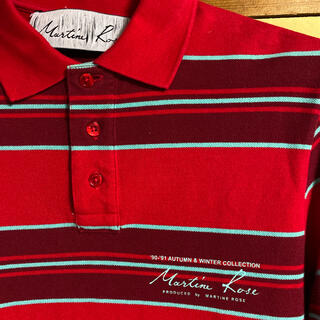 NAPAPIJRI - martine rose 18aw ボーダーラガーシャツ