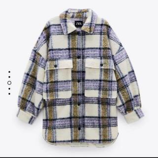ZARA - ZARA チェック柄オーバーサイズシャツジャケット L-XL
