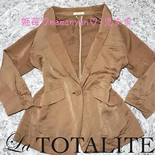 ラトータリテ(La TOTALITE)の新品♡クリスマス♡ジャケット♡コート♡インスタ映え♡リアル映え♡モテ♡デート♡(テーラードジャケット)
