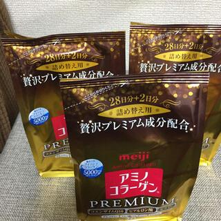 メイジ(明治)のmeiji アミノコラーゲン プレミアム 詰替え用 214g x 3袋(コラーゲン)