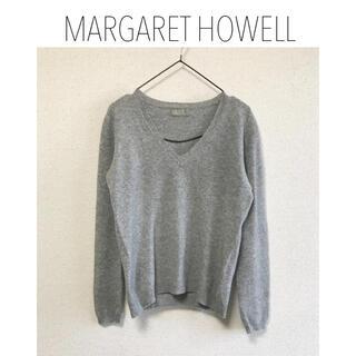 マーガレットハウエル(MARGARET HOWELL)のmargaret howell カシミヤ混Vネックニット (ニット/セーター)
