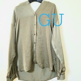 GU - サテンシャツ