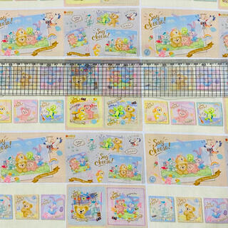 ダッフィーフレンズ生地 【セイ!チーズ】142×50