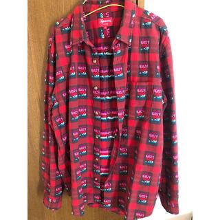 Supreme - supreme rose buffalo plaid shirt