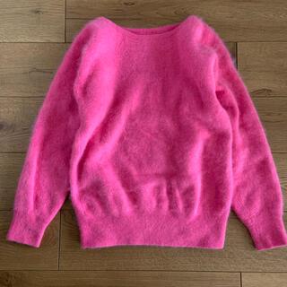 ロキエ(Lochie)の古着屋購入 ピンク アンゴラニット プルオーバー(ニット/セーター)