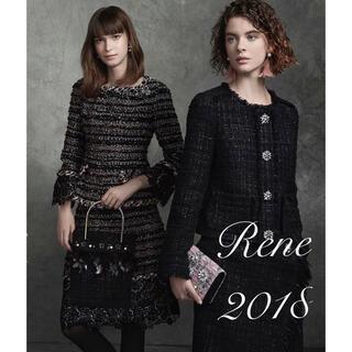 ルネ(René)のRene♡ 2018年 ブローシャ掲載 ツイードレーススカート(ひざ丈スカート)