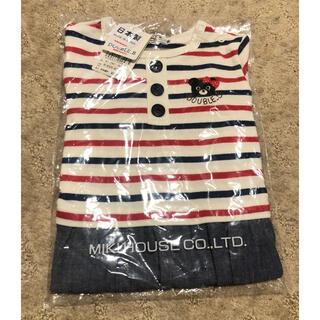 ダブルビー(DOUBLE.B)のダブルビー *長袖 ストライプ×デニム風×レース(Tシャツ/カットソー)