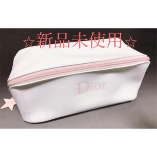 Christian Dior - マシュマロ〜な質感♡新品Dior ディオール ポーチ 白色×ピンク ホワイト