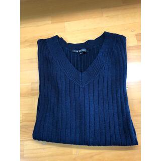 23区 - 23区 ネイビー Vネックのセーター