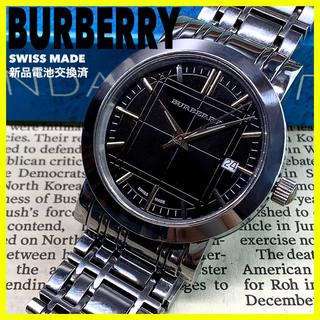BURBERRY - [スイス製] BURBERRY ヘリテージ ブラック腕時計 BU1364