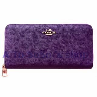 COACH - コーチ レディース長財布 F52372 パープル 新品 箱あり ポケット  紫