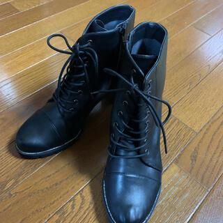 エスペランサ(ESPERANZA)のESPERANZA ショートブーツ 黒 25cm~25.5cm(ブーツ)