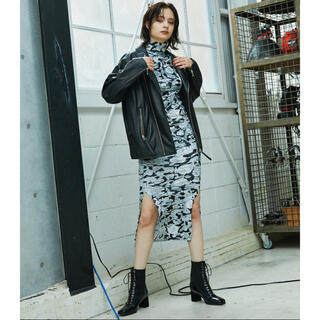 ALEXIA STAM - juemi Mosaic Velours Long Dress ベロアドレス