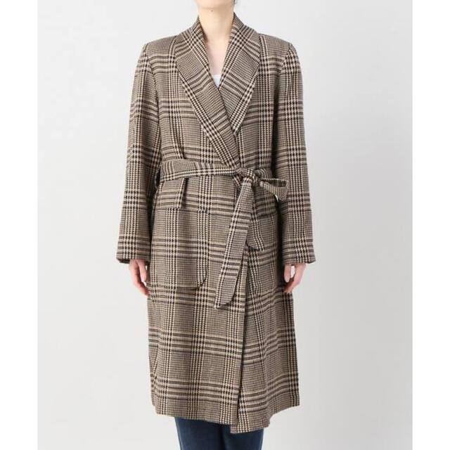 L'Appartement DEUXIEME CLASSE(アパルトモンドゥーズィエムクラス)のアパルトモン★BLECH CHECK コート レディースのジャケット/アウター(ロングコート)の商品写真