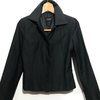 エムプルミエ(M-premier)のエムプルミエ⭐︎黒シンプルなジャケット スタンドカラー36作業アルバイト制服用に(テーラードジャケット)