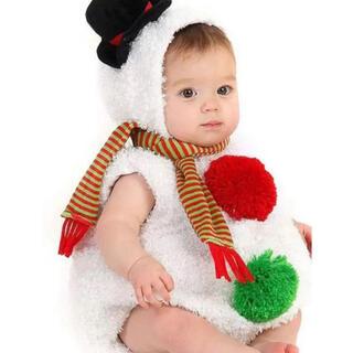 クリスマス ベビー服 赤ちゃん 着ぐるみ コスプレ コスチューム 雪だるま 衣装
