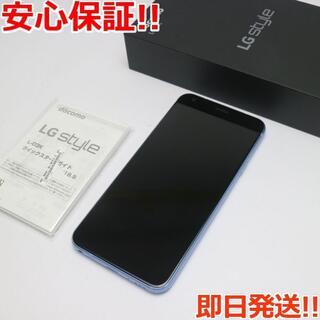 エルジーエレクトロニクス(LG Electronics)の美品 L-03K ブルー 本体 白ロム (スマートフォン本体)