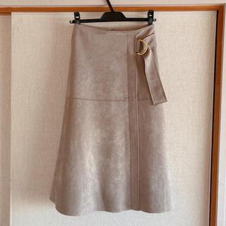 SHIPS for women - 新品未使用 SHIPS シップス ベルト付きスエード フレアスカート