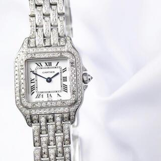 カルティエ(Cartier)の【仕上済】カルティエ パンテール SM シルバー フルダイヤ レディース 時計(腕時計)