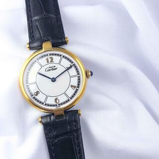 カルティエ(Cartier)の【仕上済】カルティエ ヴァンドーム アラビア文字盤 ゴールド レディース 時計(腕時計)