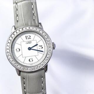 カルティエ(Cartier)の【仕上済】カルティエ ロンド 飛びアラビア ダイヤ シルバー レディース 時計(腕時計)