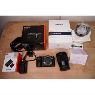 SONY - SONY a6400 Body/Sigma 16mm f1.4