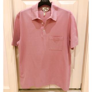 エルメス(Hermes)のエルメス ポロシャツ メンズ ピンク S〜M 美品(ポロシャツ)