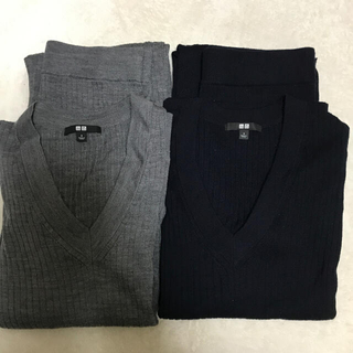 UNIQLO - UNIQLO Vネックニット ニットスカート まとめ売り S