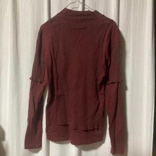 ジャンポールゴルチエ(Jean-Paul GAULTIER)のゴルチェ femme 再構築ハイネックTシャツ タイト 日本製(Tシャツ/カットソー(半袖/袖なし))