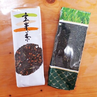 お茶の八百香園の茶葉 緑茶200gと玄米茶200g(茶)