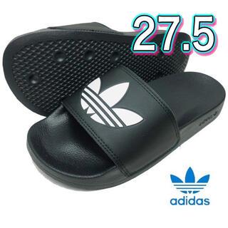 アディダス(adidas)のadidas 27.5 黒 トレフォイルサンダル 新品(サンダル)