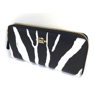 COACH - コーチCOACHゼブラ エンボスド テクスチャードジップ とても上品な長財布