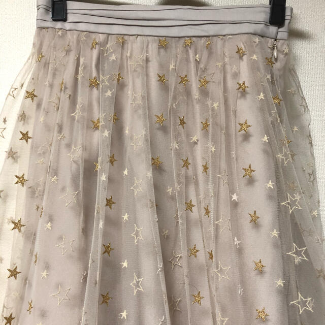 JILLSTUART(ジルスチュアート)の最終値下げ美品ジルスチュアート  スターレース スカート  レディースのスカート(ロングスカート)の商品写真