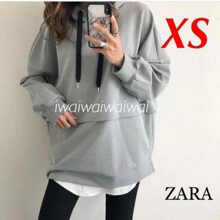 ZARA - 新品 ZARA XS オーバーサイズ フーディ パーカー
