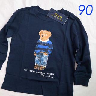 ポロラルフローレン(POLO RALPH LAUREN)のラルフローレン ポロベア コットンTシャツ ネイビー 2T/90(Tシャツ/カットソー)