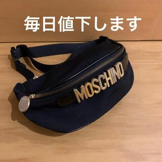 MOSCHINO - MOSCHINO モスキーノ ウェストポーチ ボディバッグ 黒 ブラック