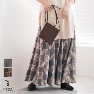 スタディオクリップ(STUDIO CLIP)のreca チェックマキシスカート(ロングスカート)