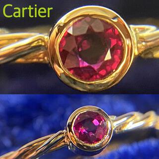 Cartier - 希少✨美品✨Cartierカルティエ ルビースリーカラーツイストリング