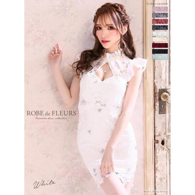 ROBE(ローブ)のROBEDEFLEURS ローズ /総レース /タイト /ミニドレス レディースのフォーマル/ドレス(ナイトドレス)の商品写真
