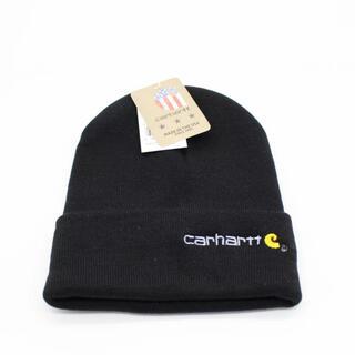 carhartt カーハート ニット帽 ブラック タグ付き ロゴ刺繍