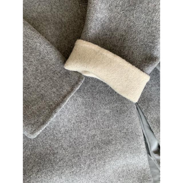 ENFOLD(エンフォルド)の[美品]  ENFOLD  ウールリバーチェスターコート/36/グレー レディースのジャケット/アウター(チェスターコート)の商品写真