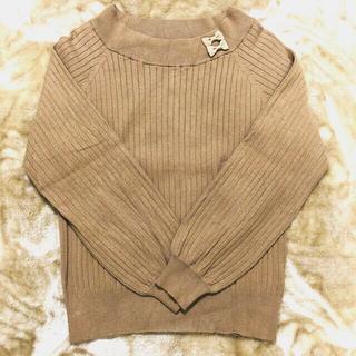 Couture Brooch - ★クチュールブローチ ダブルリボンニット セーター ベージュ サイズ38★