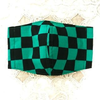 和柄*ジュニアサイズインナーマスク(緑)