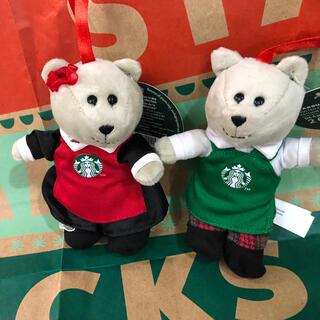 Starbucks Coffee - 激レア スターバックス ヨーロッパ限定 ミニ ホリデー ベアリスタ  ペア