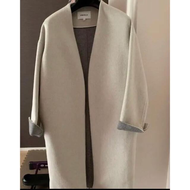 ENFOLD(エンフォルド)のエンフォルド リバーコート レディースのジャケット/アウター(ロングコート)の商品写真