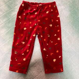 familiar - ファミリア 80 ズボン パンツ 長ズボン リアちゃん 赤 ベロア