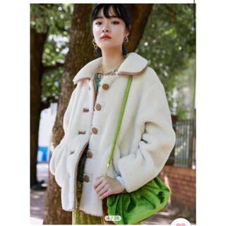 Lily Brown - lilybrown 合皮パイピングボアジャケット