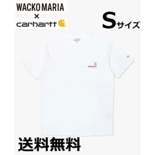 ワコマリア(WACKO MARIA)の新品 Carhartt× WACKO MARIA ロゴ刺しゅう Tシャツ S(Tシャツ/カットソー(半袖/袖なし))