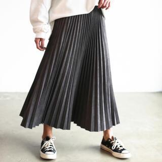 Auntie Rosa - Holiday スウェードプリーツスカート WEB限定