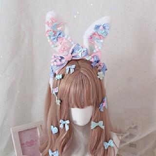 Angelic Pretty - デコレーションうさみみカチューシャ◆ロリィタ ロリータ うさぎ うさ耳